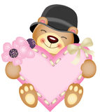 Cute teddy bear with heart Stock Image