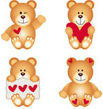 Cute Teddy Bear With Heart Stock Photo