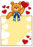 Cute Teddy Bear holding red hearts Stock Photo