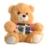 Cute teddy bear, isolated Royalty Free Stock Image