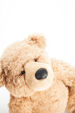 Cute teddy bear look up. To the blank space Royalty Free Stock Image