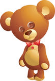 Cute teddy bear. Cute  teddy bear with ribbon Royalty Free Stock Photos