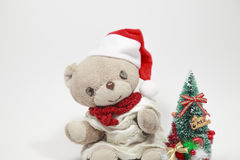 Cute teddy bear's Merry Christmas Royalty Free Stock Images