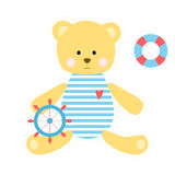 Cute teddy bear sailor. Stock Photo