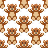 Cute Teddy Bear Seamless Pattern Royalty Free Stock Images