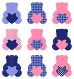 Cute Teddy Bear set Stock Photos