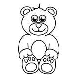 Cute teddy bear simple icon pictogram outline. Vector illustration stock illustration