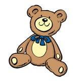 Cute Teddy Bear Sitting Down Stock Photo