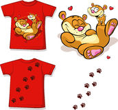 Cute teddy bear tee shirt Stock Image