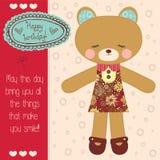 Cute teddy bear vector Stock Image