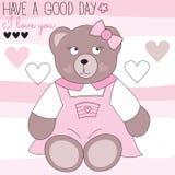 Cute teddy bear vector illustration Royalty Free Stock Image