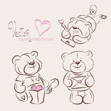 Cute teddy bear Stock Photos
