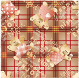 Cute teddy bear wallpaper Royalty Free Stock Photos