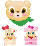 Cute Teddy Bears In Boxes Royalty Free Stock Image