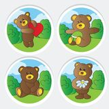 Cute teddy bears collection Royalty Free Stock Photos