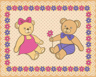 Cute Teddy bears Royalty Free Stock Photography