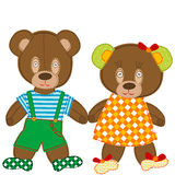 Cute teddy bears Stock Images