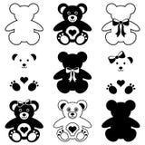 Cute teddy bears icons Royalty Free Stock Photos