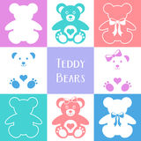 Cute teddy bears icons Royalty Free Stock Image