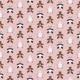 Cute teddy bears pattern. Cute teddy bears seamless pattern vector illustration