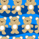 Cute teddy bears in a seamless pattern Stock Images