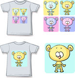 Cute teddy bears on shirt Royalty Free Stock Photography