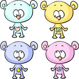 Cute teddy bears - vector illustration  isolated Stock Photography