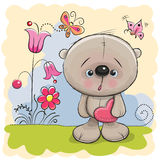 Cute Teddy With heart Royalty Free Stock Photos