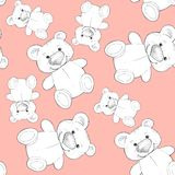 Cute teddy. Seamless pattern. Background for design 3. Seamless background with teddy bear Royalty Free Stock Photography