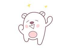 Cute Teddy Sticker happy. Stock Photography