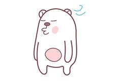 Cute Teddy Sticker. Stock Image