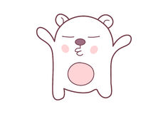 Cute Teddy Sticker. Royalty Free Stock Photography