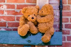 Cute teddybears sharing a secret Stock Photo
