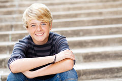Cute teen boy Stock Photos
