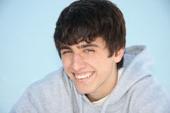 Cute Teen Boy, Smiling Close-up Stock Photo