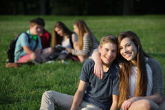Cute Teen Couple Stock Images