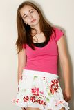 Cute teen fashion girl Stock Images