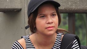Cute Teen Female Student stock footage