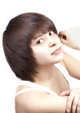 Cute teen girl isolated Royalty Free Stock Image