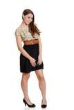 Cute teen girl in polka dot dress Stock Images