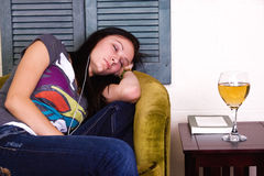 Cute Teen Girl Sleeping Stock Image