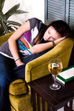 Cute Teen Girl Sleeping Royalty Free Stock Photos