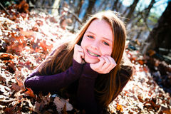 Cute Teen Happy Outdoors royalty free stock photography