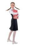 Cute Teen Schoolgirl. Side View. Stock Photos