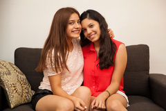 Cute teenage best friends Royalty Free Stock Photo