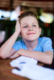 Cute teenage boy portrait Stock Photo