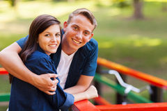 Cute teenage couple Royalty Free Stock Photo