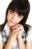 Cute teenage girl. Portrait of cute teenage girl stock image