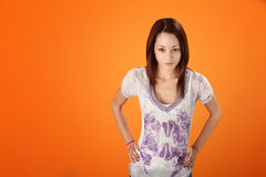Cute Teenage Girl Stock Images