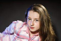Cute teenage girl close-up portrait Stock Photos